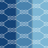 Satz drei nahtloser Tabelle 8 Hintergrund-Muster Stockbilder