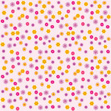 Nahtlose Musterkarikatur des Vektors mit Blumen vektor abbildung