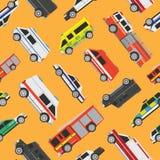 Nahtlose Musterservice-Autos Lizenzfreies Stockbild