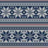 Nahtlose Musterverzierung auf der Wolle strickte Beschaffenheit ENV verfügbar Lizenzfreies Stockfoto