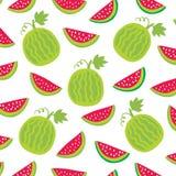 Nahtlose Musterwassermelonen Lizenzfreie Stockfotos