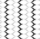 Nahtlose Musterwellenschwarzweiss-linie Art, abstrakter Hintergrund Lizenzfreies Stockbild