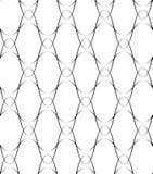 Nahtlose Musterwellenschwarzweiss-linie Art, abstrakter Hintergrund Stockbilder