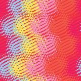 Nahtlose Musterzusammenfassung mit Punkt, rote Farbe Stockfotos