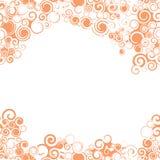 Nahtlose orange Grenze Swirly Stockfotos