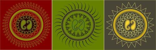 Nahtlose Paisley-Muster-Ansammlung Stockfoto