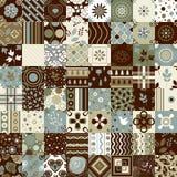 Nahtlose Patchworkmusterverzierungen Kann für Tapete, Musterfüllen, Webseitenhintergrund, Oberflächenbeschaffenheiten verwendet w Stockfoto
