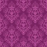 Nahtlose pinkfarbene purpurrote Blumentapete Stockfotografie