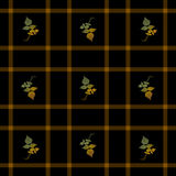 Nahtlose Plaid-Herbst-Blätter Lizenzfreies Stockfoto