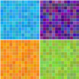 Nahtlose quadratische Fliesen der bunten multi Farbe Lizenzfreies Stockfoto