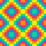 nahtlose Regenbogendiamantmuster-Hintergrund8-bit-fliese Lizenzfreies Stockfoto