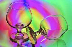 Nahtlose Reihen-Gläser Lizenzfreie Stockfotos