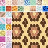 Nahtlose Retro- Muster Stockfotografie