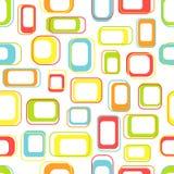 Nahtlose Retro- Quadrate Stockfotografie