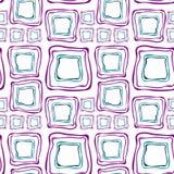 Nahtlose Retro- Quadrate purpurrot und blau Lizenzfreie Stockfotos
