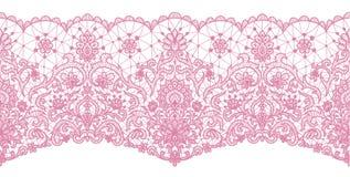 Nahtlose rosa Spitze lizenzfreie abbildung