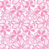 Nahtlose rosafarbene Blumen lizenzfreie abbildung