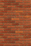 Nahtlose rote Backsteinmauer Stockbild