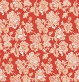 Nahtlose rote barocke venetianische Tapete vektor abbildung