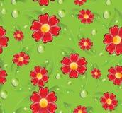Nahtlose rote Blumen Stockfotografie