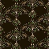 Nahtlose schöne antike Spitzemusterverzierung Geometrische Rückseite Lizenzfreie Stockfotos