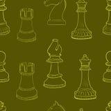 Nahtlose Schachkontur Stockbild