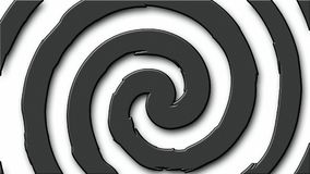 Nahtlose Schleife Karikatur hypno Kreises stock video
