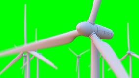 Nahtlose Schleifungsanimation des Windkraftanlagespinnens vektor abbildung