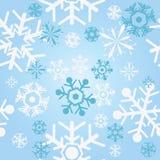 Nahtlose Schneeflocken lizenzfreie abbildung