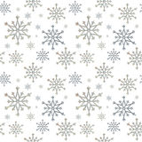 Nahtlose Schneeflocken Stockbild
