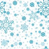 Nahtlose Schneeflocken Lizenzfreies Stockbild