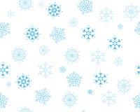 Nahtlose Schneeflocken Lizenzfreie Stockfotos