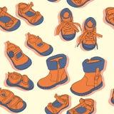 Nahtlose Schuhe Stockfotografie