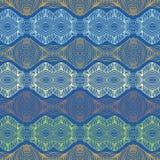 Nahtlose Siebzigerjahre ethnisches Tapete oder Textilmuster Lizenzfreies Stockbild