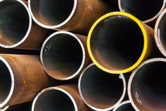 Nahtlose Stahlrohre für Öl- und Gasindustrie Stockfotografie