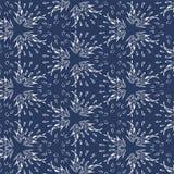 Nahtlose Sterne - Federn - Blätter kopieren Hintergrund Vektor Stockfotografie