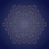 Nahtlose stilvolle Hand gezeichnet ringsum Muster Stockbilder