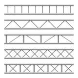 Nahtlose Struktur des Stahlbinderträgers Metallrahmen für Anschlagtafel Lokalisierter Vektorsatz stock abbildung