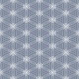 Nahtlose symmetrische einfache Tapete der hellgrauen und weißen Spitzes Stockfoto