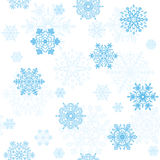 Nahtlose Tapete der Schneeflocken Stockbilder