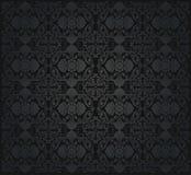 Nahtlose Tapete der schwarzen Weinlese Stockbilder