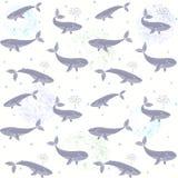Nahtlose Tapete der Wale Stockbild