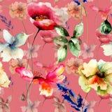 Nahtlose Tapete mit Blumen Lizenzfreie Stockbilder