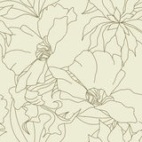 Nahtlose Tapete mit Blumen Lizenzfreie Stockfotos