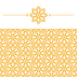 Nahtlose Tapete mit geometrischem, linearem Muster Lizenzfreie Stockfotos