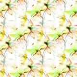 Nahtlose Tapete mit Lilienblumen Lizenzfreies Stockbild