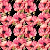 Nahtlose Tapete mit Sommerblumen Stockfoto
