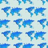 Nahtlose Tapete mit Weltkarte lizenzfreie stockfotos
