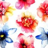 Nahtlose Tapete mit wilden Blumen vektor abbildung