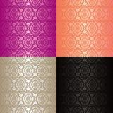 Nahtlose Tapeten - Set von vier Farben. Lizenzfreie Stockfotografie